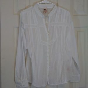 Faded Glory White Button Up Shirt